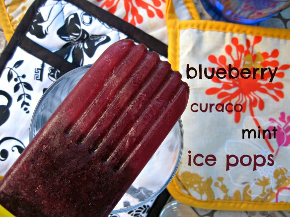 Blueberry Curaco Mint Ice Pops | V-Spot