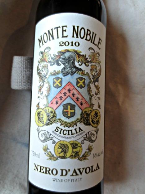 Monte Nobile 2010 Nero D'Avola