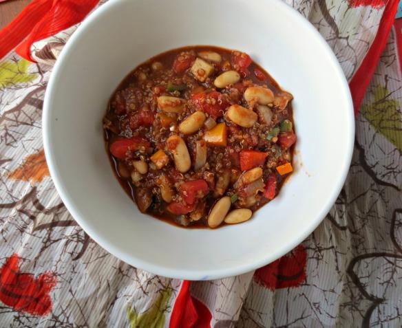 White Bean and Quinoa Chili