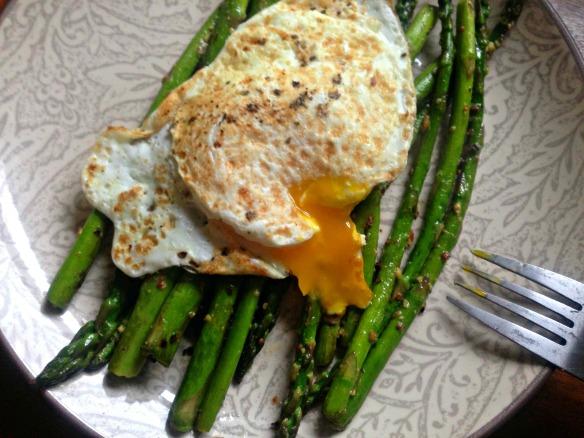 Egg Over Asparagus