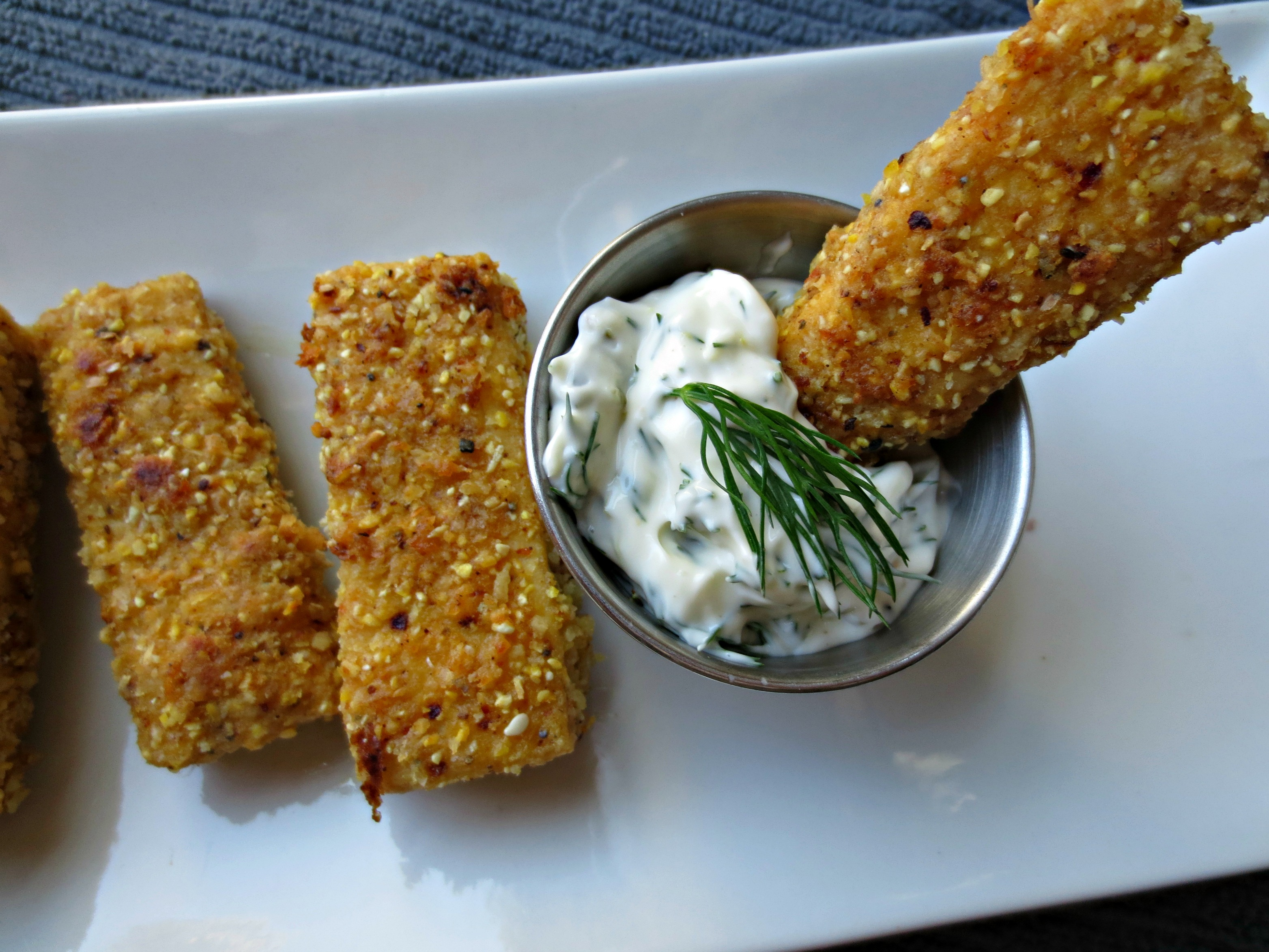 baked vegan fish sticks v spot