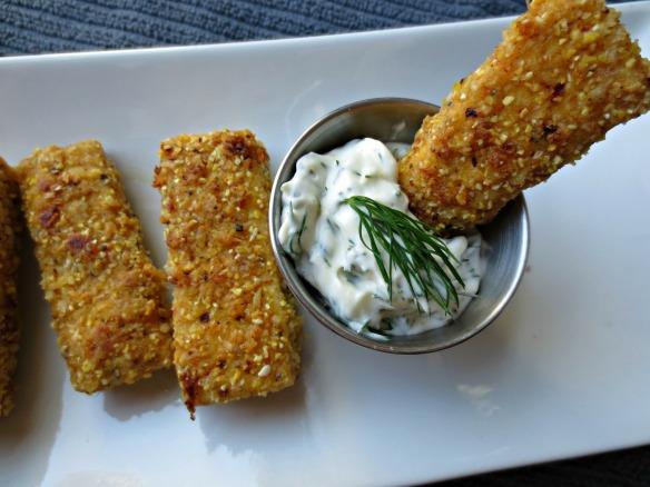 Faux Fish Sticks and Tartar Sauce
