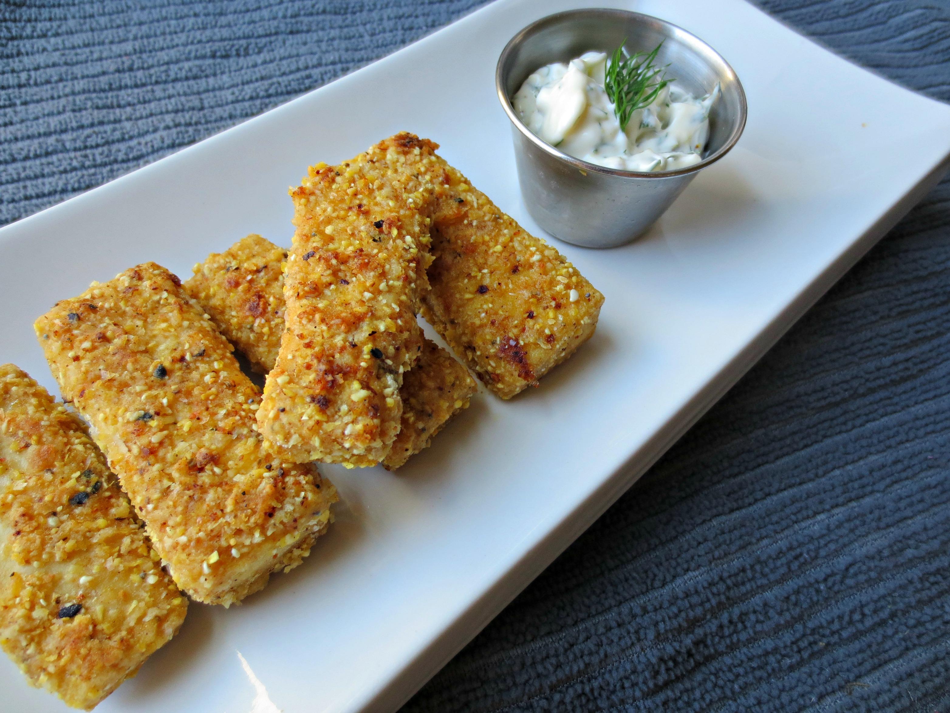 baked vegan fish sticks | V-Spot