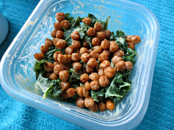 Kale Topped with Chickpeas