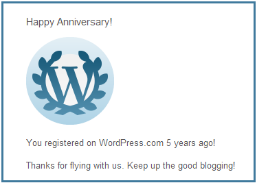 5th Year Blog Anni