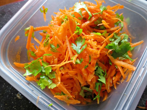 Grated Carrot and Cilantro