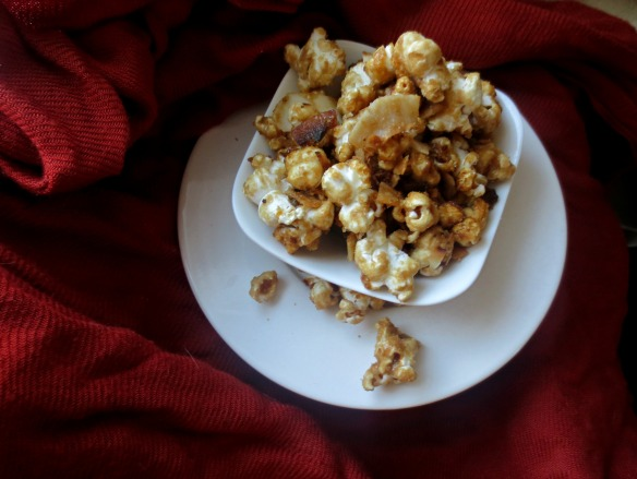 Salted Caramel Corn with Toasted Coconut